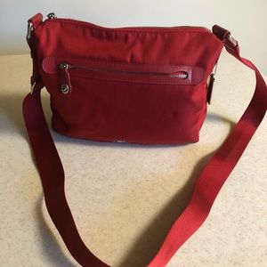 Coach True Red Nylon Crossbody Handbag